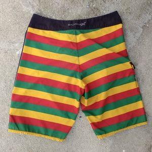 b5231296db Billabong Swim - Billabong Bob Marley Rasta Swimming Board Shorts
